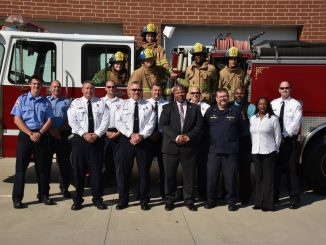 Rocky Mount Fire Department, crew shown in a 2016 photo. Source: Rocky Mount FD Facebook, North Carolina.