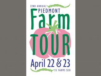 Piedmont Farm Tour 2017 logo. Source: Carolina Farm Stewardship Association, Pittsboro NC.