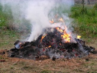 Debris burning. Source: NC Forest Service, ncforestservice.gov.