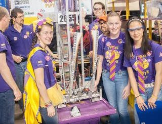 FIRST Robotics Team 2655, The Flying Platypi represented North Carolina at the Buckeye Regionals FIRST Robotics Competition. Credits: William T. Dedula, NASA.