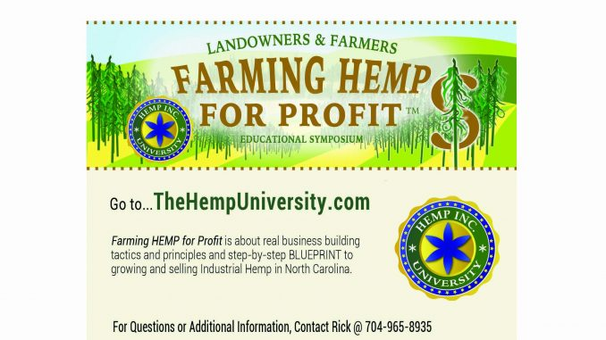 The Hemp University mod. event notice.