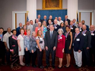 Medallion Award Recipients with NC Governor Cooper, May 2017. Source: Ford Porter, Office of the Governor, Raleigh NC.