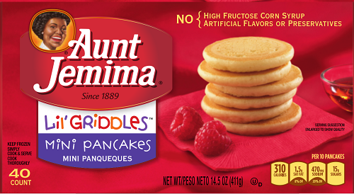 One of the Aunt Jemima product labels included with the US FDA recall May 5, 2017.