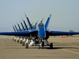 US Navy's Blue Angels. Source: Seymour Johnson Air Force Base PR.