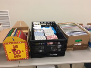 School supplies were provided to registered students at Knightdale giveaway. Photo: Kay Whatley