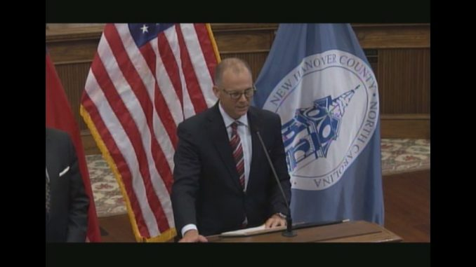 The New Hanover County NC Press Conference speaker Woody White on GenX streamed live on NHCTV (nhcgov.com).