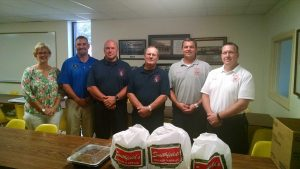 Wendell Fire Department and Mayor. Source: Sherry Scoggins, Town of Wendell NC.