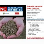 Statewide Industrial Hemp Field Day 2017 flyer. Source: NCDA&CS