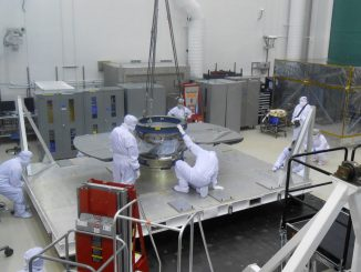 NASA's Next Mars Mission to Investigate Interior of Red Planet Bench Checkout of InSight's Seismometer Instrument Mars Lander Deck of NASA's InSight MissionArtist's Concept of InSight Lander on MarsHoisting NASA's InSight LanderCruise Stage of NASA's InSight Spacecraft Lockheed Martin spacecraft specialists check the cruise stage of NASA's InSight spacecraft in this June 22, 2017, photo. Credit: NASA/JPL-Caltech/Lockheed Martin