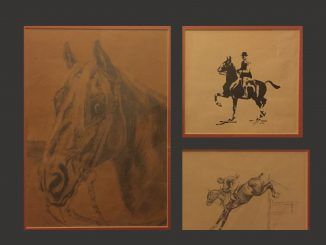 Drawings of horses by Gordon S. Reublin in 1938-39.