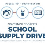 School supply drive kit for collection points. Source: Office of the Governor, Raleigh NC.