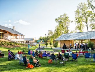 Outdoor music event at Wendell Falls. Source: Sherry L. Scoggins, Town of Wendell NC