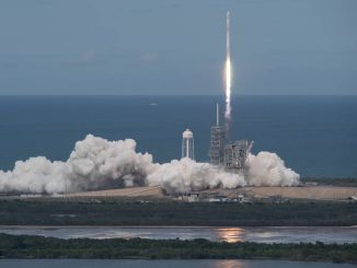 The SpaceX Falcon 9 rocket, with the Dragon spacecraft onboard, launched from NASA's Kennedy Space Center on June 3, 2017. Photo: NASA/Bill Ingalls