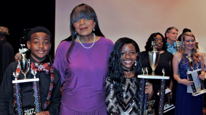 2017 Wilson Idol Winners Alayla Jenkins and Elijah Whitley with Dr. Mildred Summerville. Source: Wilson Idol