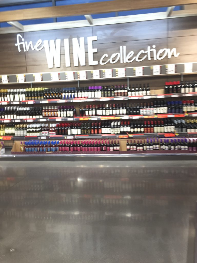 Wine for sale at Lidl Wilson NC in August 2017. Photo: Kay Whatley