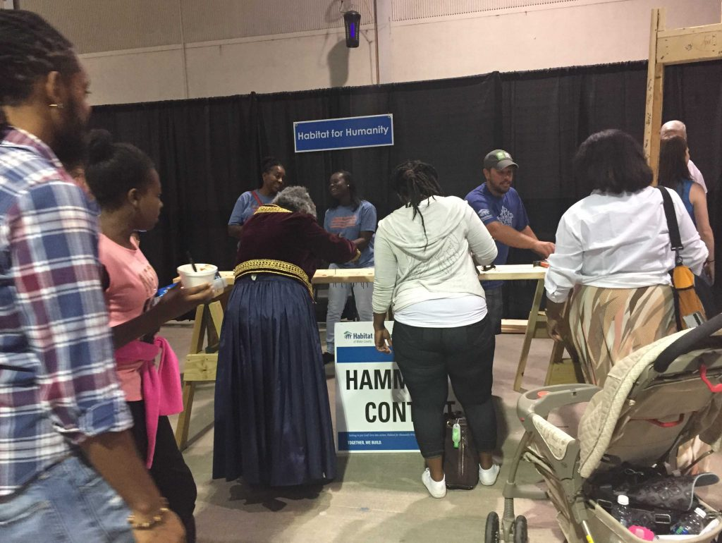 Habitat for Humanity Hammering Contest at the Raleigh Greek Festival 2017. Photo: Kay Whatley