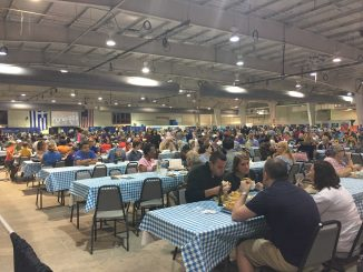 Big crowd for the Raleigh Greek Festival, held September 8-10, 2017, Raleigh NC. Photo: Kay Whatley