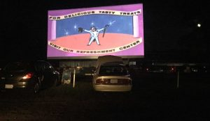 Movie Intermission at Raleigh Road Outdoor Theatre double feature. Photo: Kay Whatley