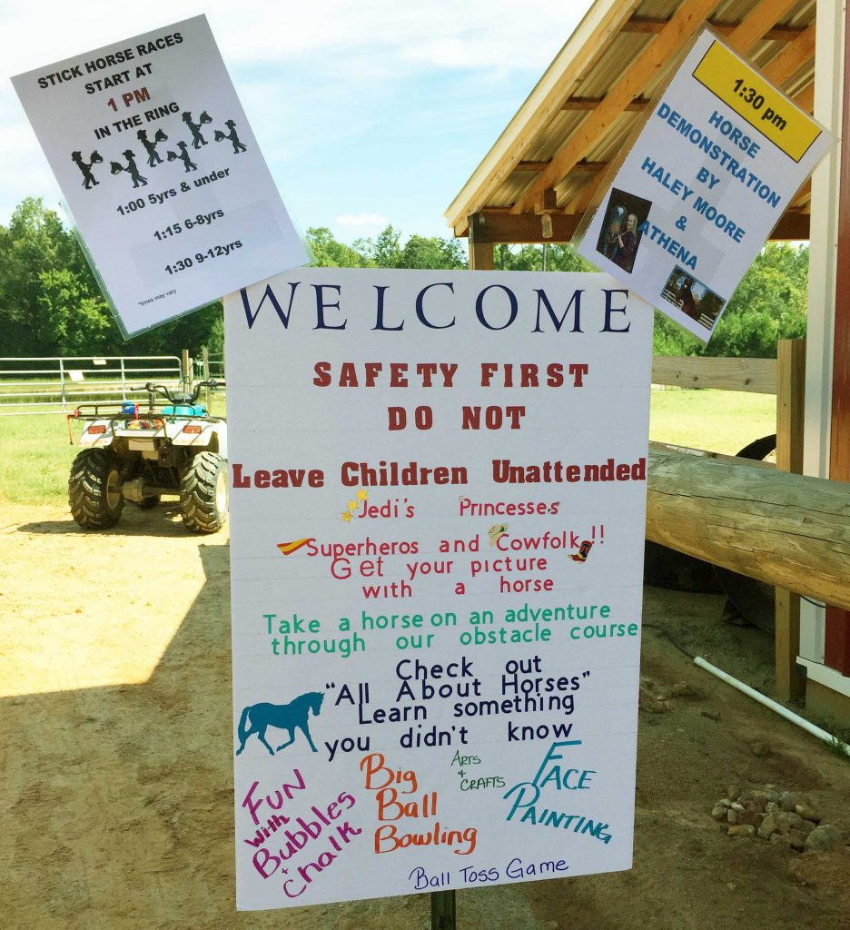 Family Farm Day sign. Photo: Kay Whatley