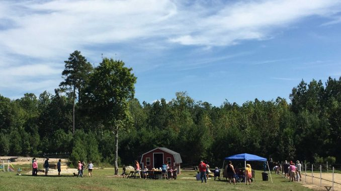 One section of the Family Farm Day 2017 at Kindred Spirits Farm. Photo: Kay Whatley