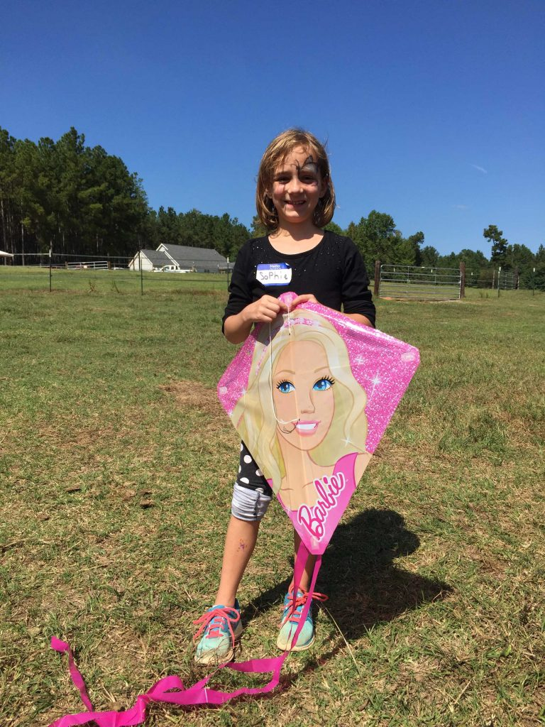 Sophie took part in face painting, kite flying, and more at the Family Farm Day 2017. Photo: Kay Whatley