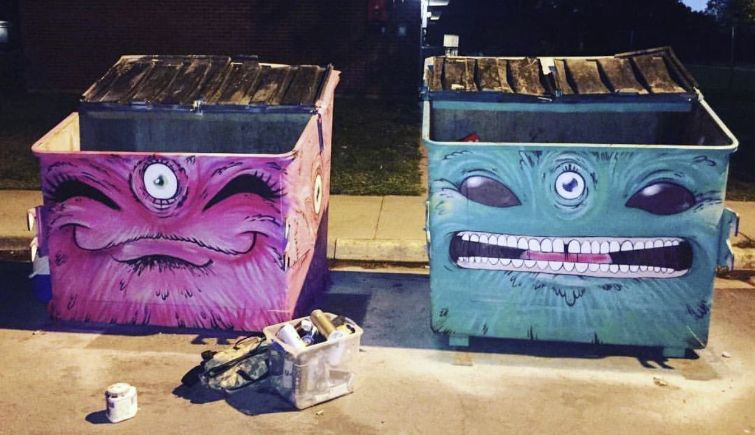 Quigg Newton Dumpster (Art) Project photo. Source: Denver Arts and Venues
