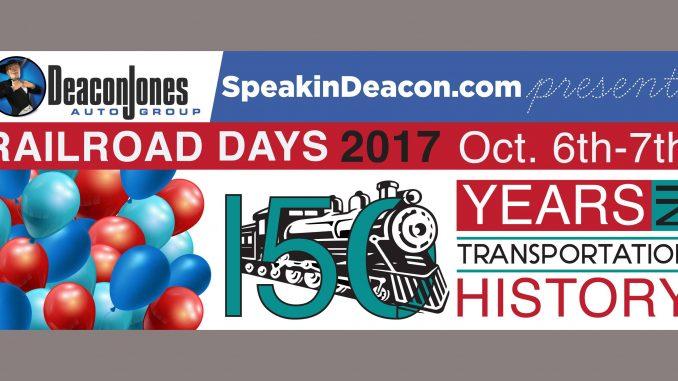 Selma NC Railroad Days are October 6-7, 2017. Source: Town of Selma NC
