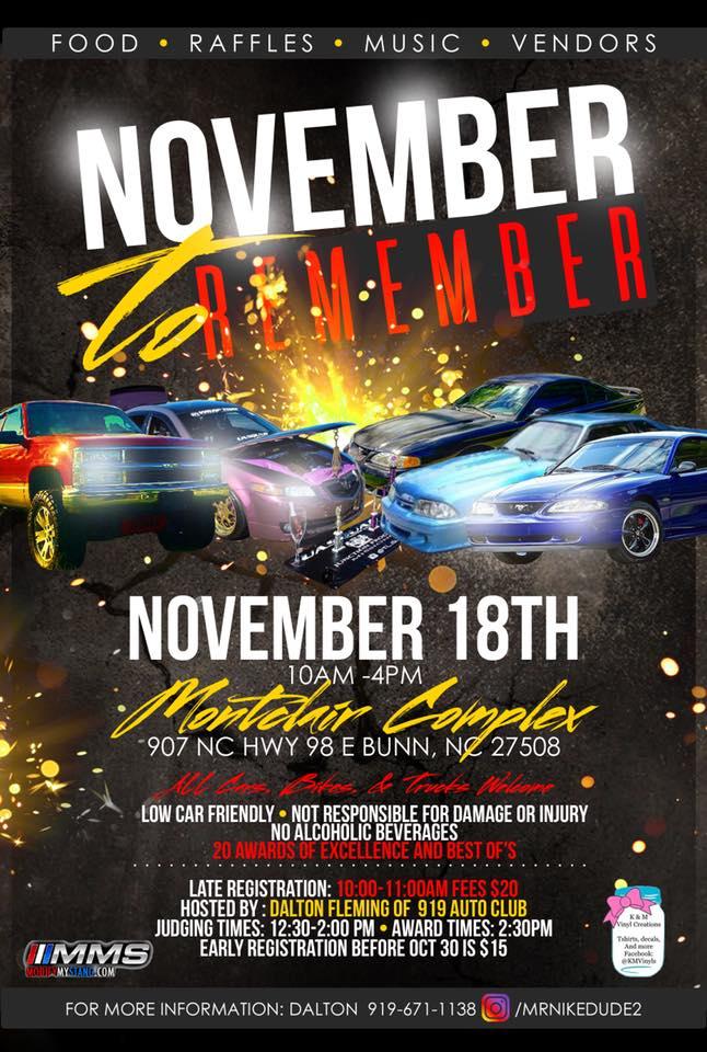 November to Remember 2017 poster.