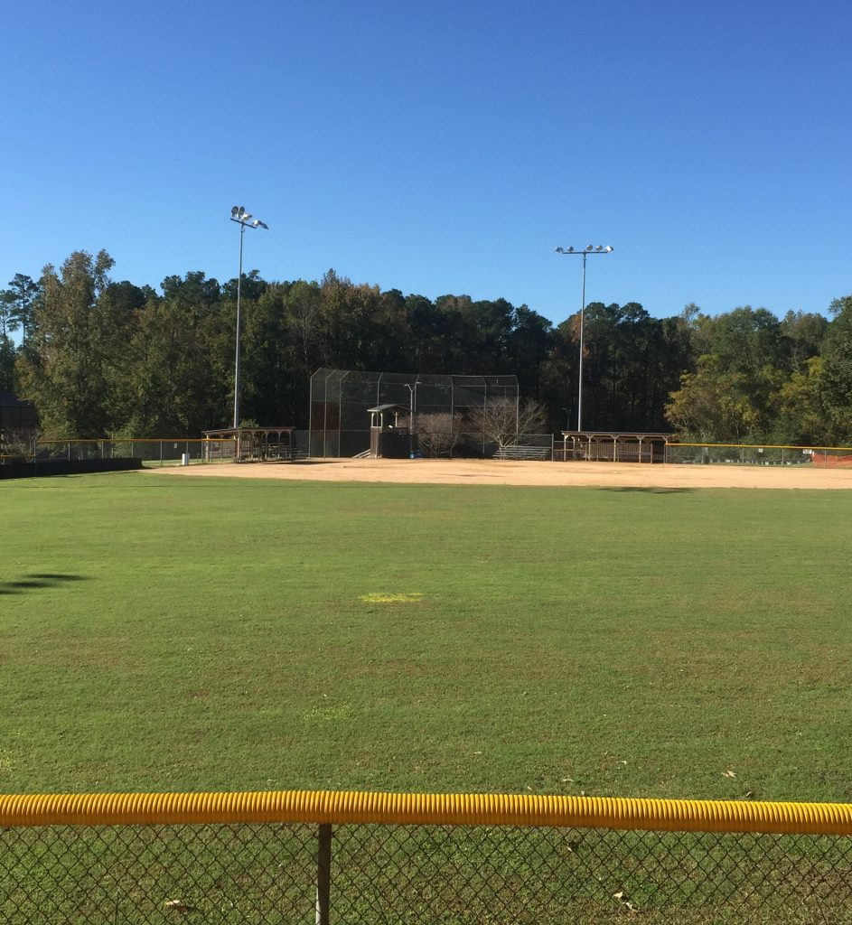 View of Jake May Ball Field from the new walking trail. Source: Sherry L. Scoggins, Town of Wendell, North Carolina