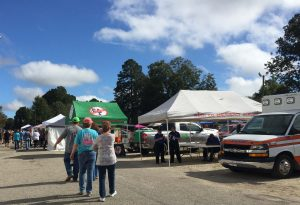 National Pumpkin Festival vendors along E Railroad Street, Spring Hope NC. Photo: Kay Whatley