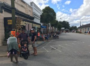 Waiting for the parade at National Pumpkin Festival 2017, Spring Hope NC. Photo: Kay Whatley