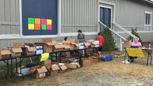 Library's book sale during National Pumpkin Festival 2017, Spring Hope NC. Photo: Kay Whatley