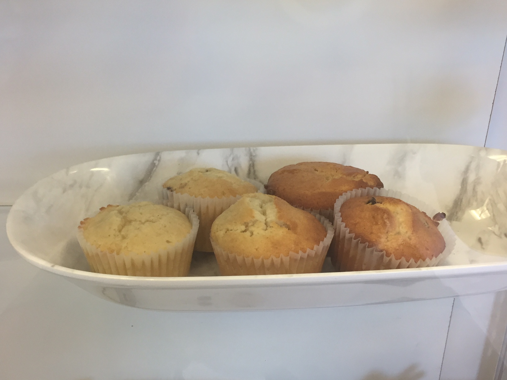 Two types of chocolate muffins in Auntie Cake's Bakery, NC. Photo: Kay Whatley