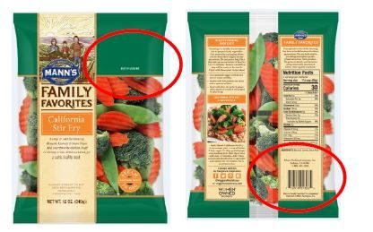 One of the many products affected under the Mann Produce recall for possible Listeria contamination. Source: US FDA