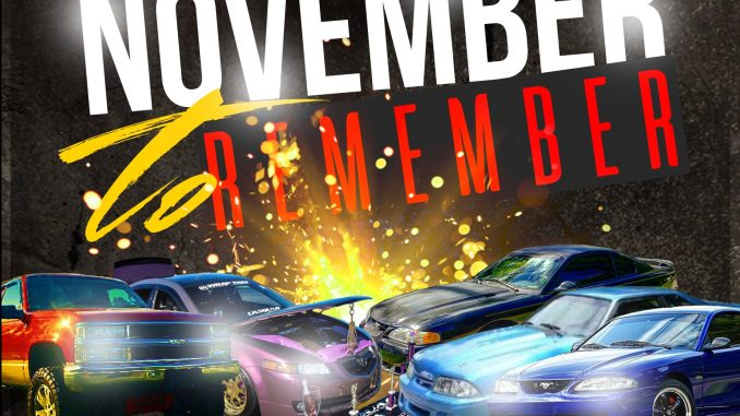 November to Remember Car, Truck, and Motorcycle Show is November 18, 2017, in Bunn NC.