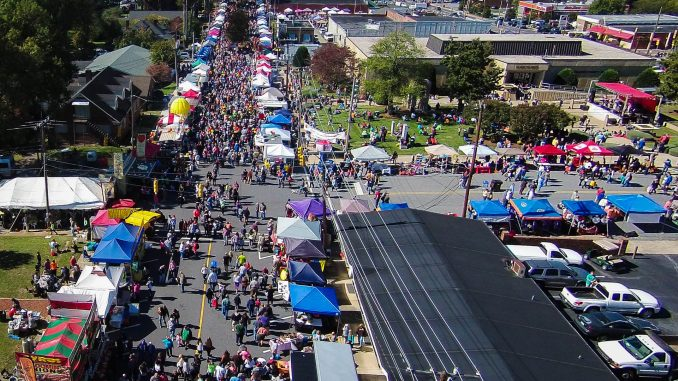Drone over Taylorsville NC festival 2015. Source: Taylorsville Apple Festival, Inc.