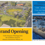 Vollis Simpson Whirligig Park Grand Opening postcard. Source: Wilson Downtown Development Corporation, Wilson, North Carolina