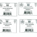 Some of the labels USDA released with recall.