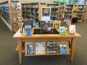 Seasonal display in East Regional Library, Knightdale NC, November 2017. Photo: Kay Whatley
