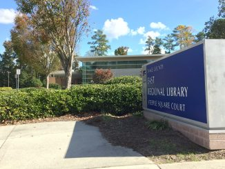 Exterior of East Regional Library, Knightdale NC. Photo: Kay Whatley