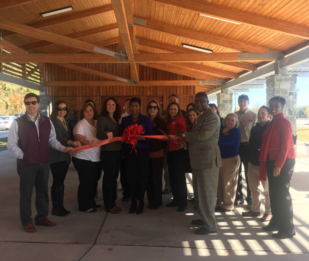 Ribbon cutting at Knightdale Chamber's Red Ribbon Showcase on November 16, 2017. Photo: Nadia Ethier