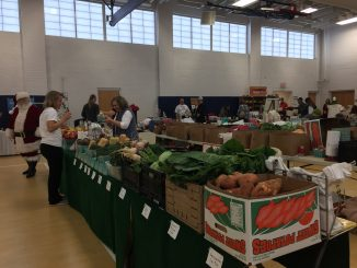 The Holiday Market at Zebulon Community Center featured local vendors, farm produce, and Santa too. Photo: Kay Whatley