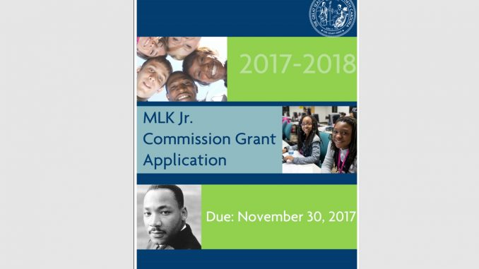 MLK Jr. Commission grant application 2017. Source: State of North Carolina