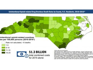 Map from NC Dept of Health and Human Services factsheet.