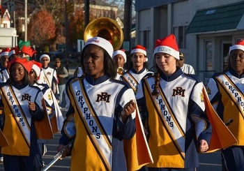 Past year photo of Christmas Parade. Source: Rocky Mount Downtown Development Office, North Carolina