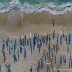 Start of the 2017 Surf to Sound Challenge. Photo: Peter Newman, Aerial Images ILM