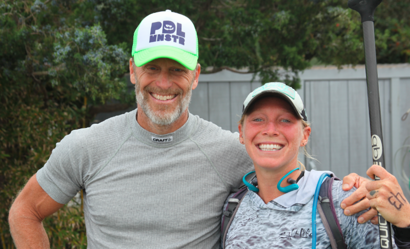 Larry Cain and April Zilg at Surf to Sound Challenge. Source: NC Press Release