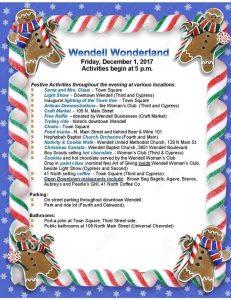 Wendell Wonderland 2017 flyer