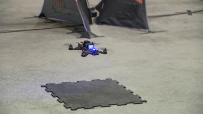 JPL engineers recently finished developing three drones and the artificial intelligence needed for them to navigate an obstacle course by themselves. As a test of these algorithms, they raced the drones against a professional human pilot. Image Credit: NASA/JPL-Caltech