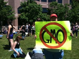 Preparing to March Against Monsanto on May 25, 2013 in Raleigh NC. Photo: Kay Whatley